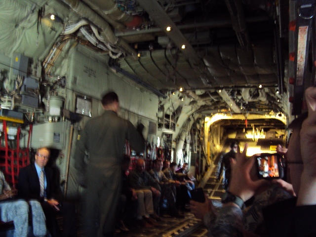 A view of the luxurious accommodations in the C-130.