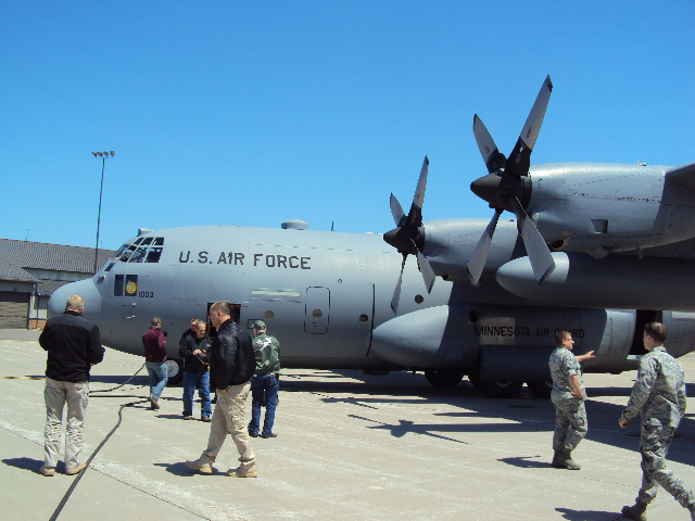 The C-130 that we took our flight on.